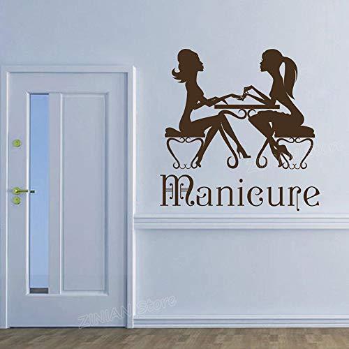 Stickers Muraux Salon De Beauté Chaud Nail Art Hair Spa Pour Femme Fille Manucure Pédicure