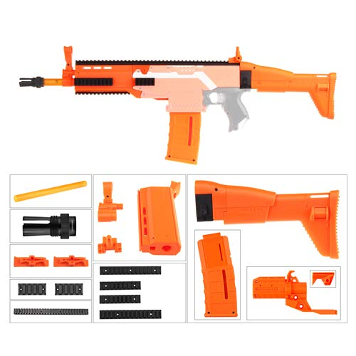 JGCWorker Worker Decoration Mod Kits Set for Nerf N-Strike Elite Stryfe Blaster Color Orange