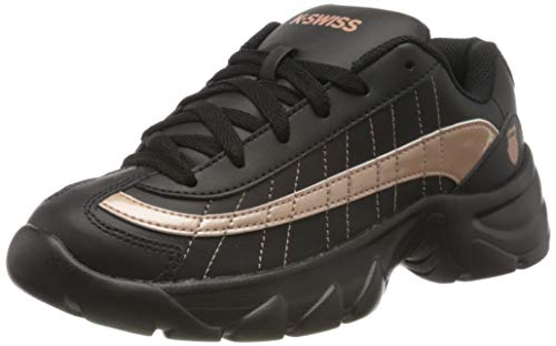 K-Swiss Damen ST129 Sneaker, Schwarz (Black/Rose Gold 091), 37 EU