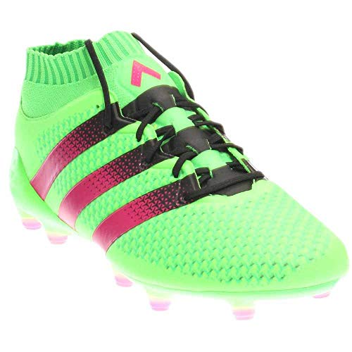 Adidas Ace 16.1 Primeknit Fg / ag Tacos de fútbol (SZ. 6.5) solar verde, Rosa Choque