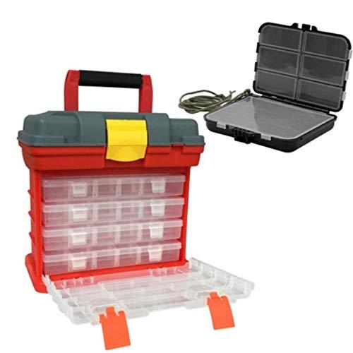 Multifonction 4 couches Boîte en plastique Grande boîte de pêche à vis Pièces de rangement Boîte de rangement Leurres de pêche Boîte à outils