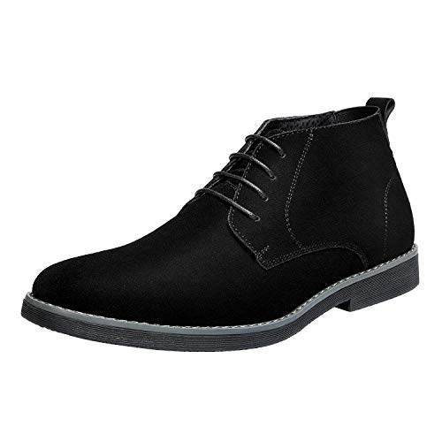Bruno Marc Men's Chukka Black Suede Leather Chukka Desert Oxford Ankle Boots Size 11 M US