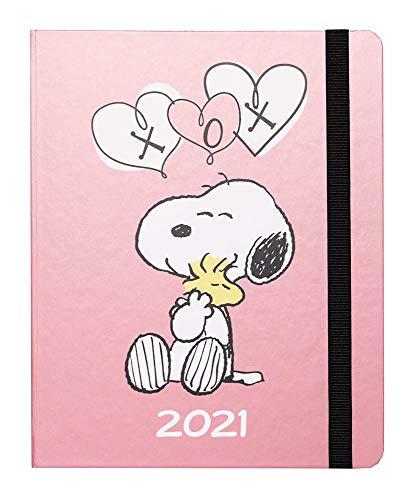 Agenda Settimanale 2021 Snoopy, ideale per la scuola, lavoro e tempo libero, 17 mesi, 16x20 cm