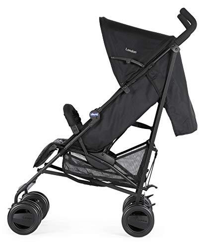 Chicco London - Silla de paseo, 7.2 kg, compacta y manejable, color negro