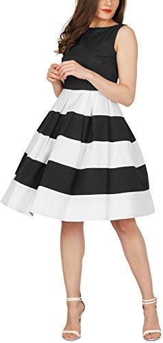 BlackButterfly 'Lilly' Vintage Gestreift Kleid im 50er-Jahre-Stil - 5