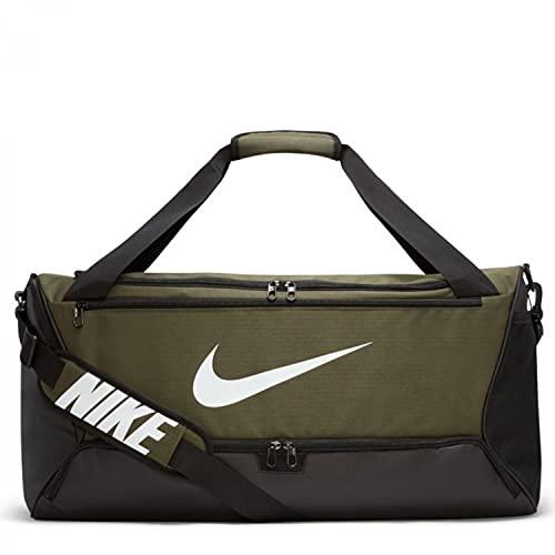 Nike BA5955 Brasilia Borsa sportiva Unisex - adulto cargo khaki/black/white 1SIZE