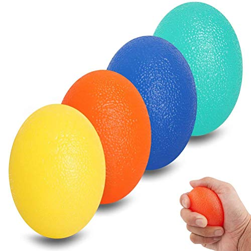 Egg Shape Grip Balls Round Hand Squeezing Balls Relieve Stress Silicone Exercise Grip Balls Wrist Rehab Therapy Hand Grip Equipment Ball