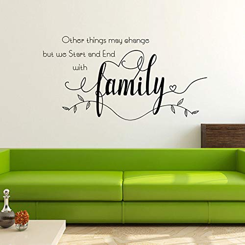 Otras cosas pueden cambiar pero decoramos adhesivos desde casa murales pegatinas 40 cm x 40 cm.