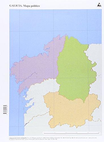 Mapa político Galicia (Mapas mudos), pack de 50 unidades