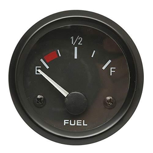 "U/D HKRSTSXJ 2"" 52mm Auto Fuel Gauge Meter Füllstandmessgerät Kraftstoff-Sensor E-1/2-F-Zeiger-LED"