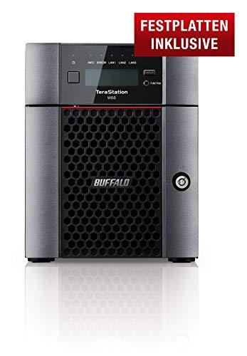 Buffalo TeraStation WS5420DN08W6EU Desktop NAS mit Windows Storage Server 2016, 8 TB (inklusive 4 x 2 TB NAS HDDs)