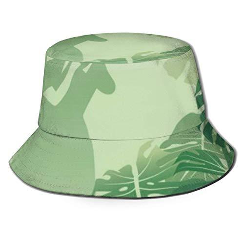 Berretti Coppia Che Balla in Un Giardino di Mon-stera Cappello da Pescatore Tropicale Cappello da Pesca Parasole Visiera Parasole cap