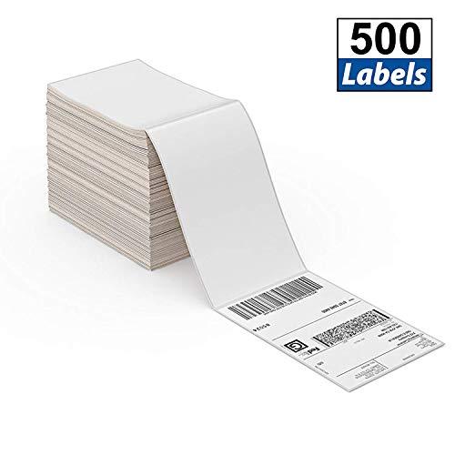4x6 Direkte Thermische Fanfold-Versandetiketten 500 Etiketten für Postanschriften USPS UPS FedEx Amazon Ebay-Versandetiketten, handelsüblich