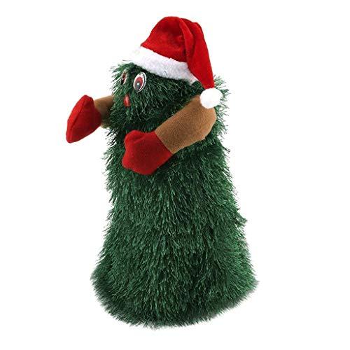 KESOTO Lustige Tanzender drehender Singender Weihnachtsbaum Musikalische Spielzeug