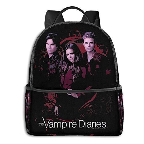 Jupsero Vampire Diaries Mochila escolar Unisex Mochila básica clásica Mochila escolar Mochila