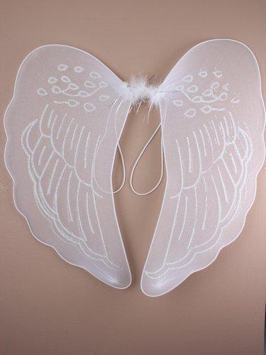 Large Blanc Aile Ange pour Déguisement ou Nativité, avec manche boucles