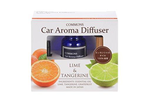 COMMONS 車用アロマディフューザー Car Aroma Diffuser ライム&タンジェリン CALT 車用芳香剤