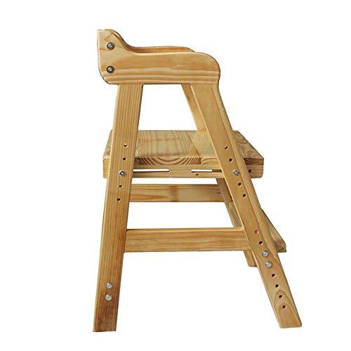 Jiamuxiangsi- Solid Wood Stap Ladder Stap Kruk Leren Stoel Student Kinderen Vouwen Trappen Lift Stoel Rugleuning Stoel Opvouwbare Pedaal Kruk Stap kruk