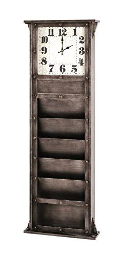 Haku Memoboard mit Uhr Maße (B/T/H) in cm: 41 x 11 x 120 inkl. 5 Ablagen in anthrazit aus MDF