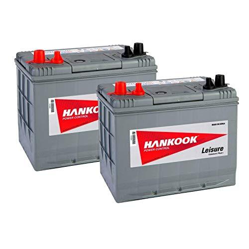 2x Hankook XV24MF 12V 85Ah Batterie Décharge Lente Pour Loisir, Caravane, Camping Car, Bateau -...