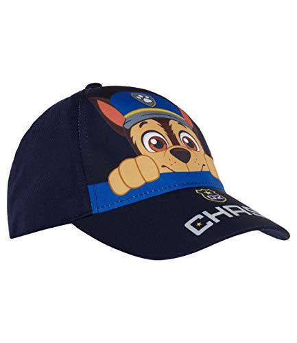 PAW PATROL Cap Jungen Mütze mit farbigem Aufdruck und Klettverschluss Marine blau 54