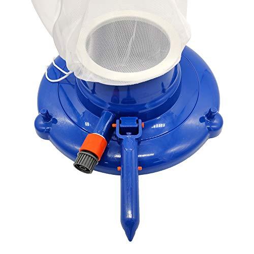 Kshzmoto Poolreinigungswerkzeuge Poolreinigungssaugkopf mit Griffnetzbeutel Poolsaugkopf (3-Farben-Griff zufällig senden