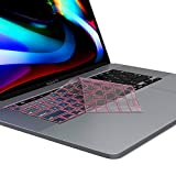 Kuzy Compatible with MacBook Pro 13 inch 2020 A2289 and MacBook Pro 16 inch Keyboard Cover 2019 A2141 Premium TPU Key Board Skin Thin Protector for MacBook Pro Keyboard Cover with Touch Bar, Pink