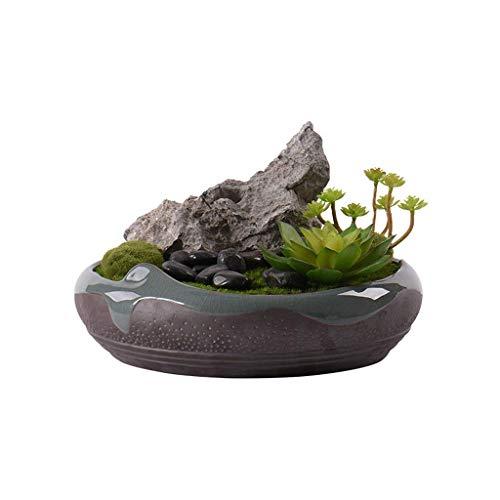 Künstliche Pflanzen Chinesisches Kunstgras Künstliche Grünpflanze, Zuhause Wohnzimmer Tisch Blumenschmuck Künstliche Blume Topfpflanze, Künstliche Bonsai Keramik Künstliche Pflanze Gefälschte Bäu