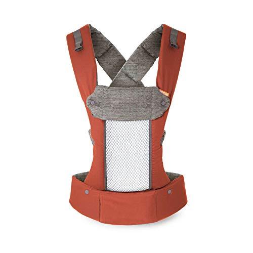 Beco 8 Babytrage von Geburt an - Rust - belüfteter Rücken, einschließlich Neugeboreneneinsatz, für Babys von 3,2 bis 20 Kilogramm, 0 bis 48 Monate