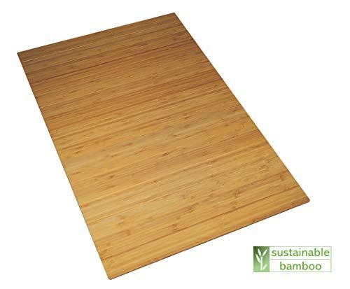 Green'n'Modern rutschfeste Badematte aus Holz Bambus | Bambusmatte als Fußbodenauflage im Badezimmer | Duschvorleger hygienisch