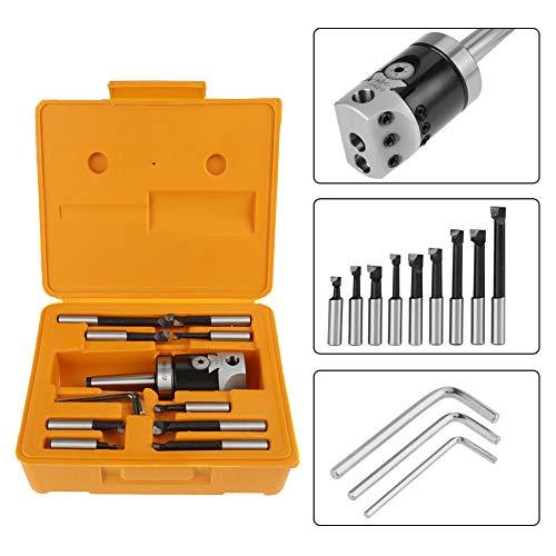 Kop van Alesatura, boring tool set, set van Alesatura, 50 mm boorkop van metaal Duro MT2 -M10 F1-12, met boring 9 stuks 12 mm toebehoren voor freesmachine