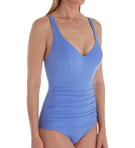 Empreinte Women's Body Underwire Ruched One-Piece Swimsuit VP-Body 32G Myosotis