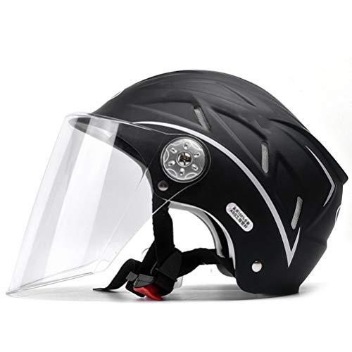 Offenes Gesicht Motorradhelm Jet-Helm Mit Visier Motorradhalbhelm, ECE Genehmigt Für Damen Herren Roller-Helm Mofa-Helm Scooter-Helm Bobber Chopper Crash Cruiser Racing Brain-Cap