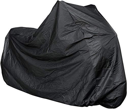 Funda para moto impermeable universal, 210 x 120 cm, color negro, resistente al agua, polvo, lluvia y viento, para moto, scooter, bicicleta, moto