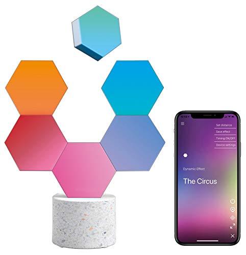 Cololight PRO Lichtsystem - Steuerung per App (Android und Apple), Alexa, Google Home, 16 Mio RGB LED Farben und Effekte, Gamingbeleuchtung zum Zusammenstecken, Stone Set mit 6 Modulen