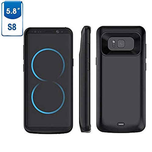 Samsung Galaxy S8 Akku Hülle 5000 mAh, Mbuynow Samsung Galaxy S8 Handy Hülle Samsung Galaxy S8 Ultra dünnes Akku Case Hülle Lithium-Polymer Battery Akkucase Power Bank Cover für Samsung Galaxy S8(S8)