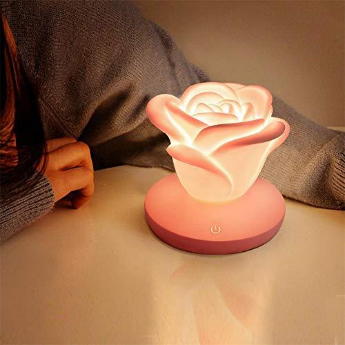 Fiaoen Luz de noche LED en forma de rosa de la lámpara de la novedad romántico regalo de Año Nuevo