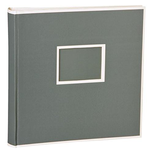 Semikolon (351104) Jumbo Album grey (grau) - Fotoalbum/Fotobuch mit 50 Blättern cremeweißem Fotokarton mit Pergaminpapier - Format: 30x30 cm