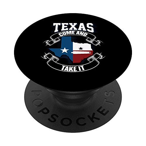 Texas Come and Take It Cannon Revolución de Texas Bandera de PopSockets PopGrip: Agarre intercambiable para Teléfonos y Tabletas