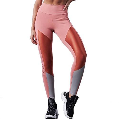 Calça Legging Detalhe Acetinado, Colcci Fitness, Rosa Chardonnay, M