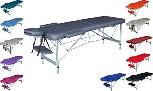TITANO Massageliege massagebank aluminium ultraleicht 13kg ohne zurück klappbar
