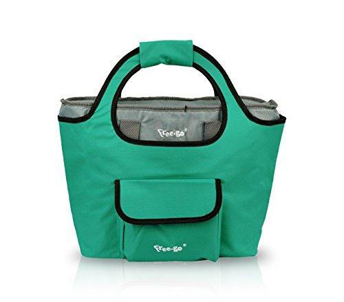 Free-Go 161227 Borsa termica 2 in 1 shopper e borsa frigo in vari colori. MEDIA WAVE store (Verde)