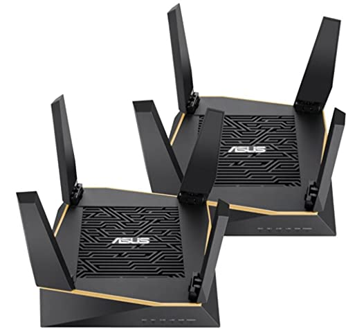ASUS RT-AX92U AX6100 Wi-Fi 6 Tri-Band Whole Home Mesh Wi-Fi System for...
