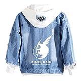 ISaikoy Anime Akame ga KILL Denim Jacket Hoodie Pullovers Sweatshirt Fleeces Costume