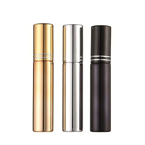 3 perfumadores de bolsillo recargables, de 10 ml cada uno, para hombre y mujer, atomizador mini, portátil, se venden vacíos