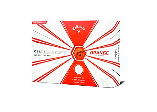 Callaway Golf 2019 Supersoft Golfbälle, Herren, Supersoft 19 Golf Ball, Orange, Matte Finish