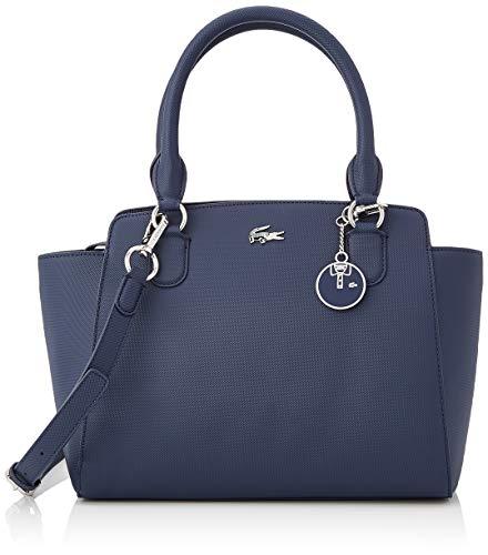Lacoste Daily Classic, Sac porté épaule Femme,Bleu (Peacoat) , 13.5x22x28 cm (W x H x L)