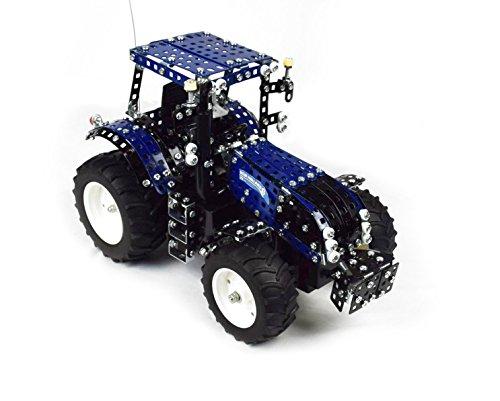 RC Auto kaufen Traktor Bild 6: Tronico 10057 - Metallbaukasten Traktor New Holland T8 mit Fernsteuerung, Profi Serie, Maßstab 1:16, 732-teilig, blau*