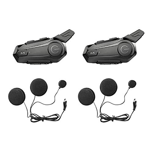 Fayme 2 Set Motorrad Helm Gegensprechanlage Universal Paarung Haustelefon Headset mit CNC LLRm...