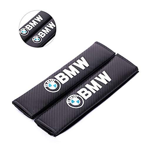fanlinxin Auto-Sicherheitsgurtpolster aus Kohlefaser und Stickerei, für BMW, 2 Stück